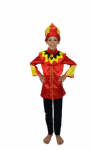 RED AND GOLD KING WISE MAN FANCY DRESS COSTUME